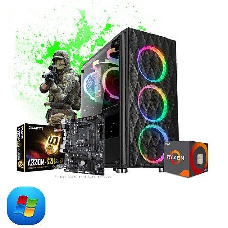 Pc Gamer Strike Amd Ryzen R5 2400G, 2x4gb Hd 500gb