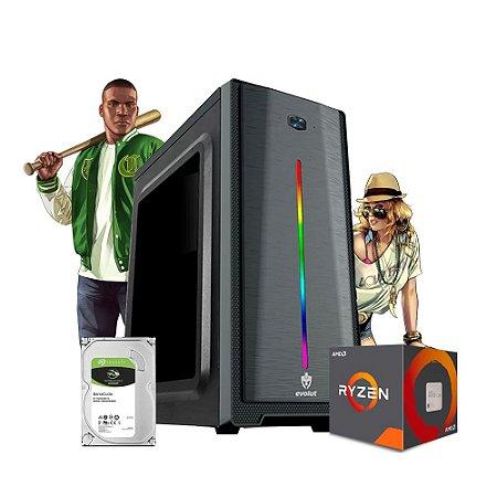 Pc Gamer MegatumIi Clean Carry Amd R3 3200G 8gb Hd 500gb