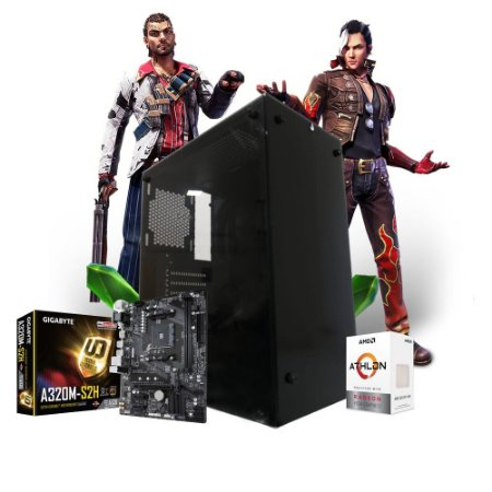 Pc Gamer Megatumi Clean Sup Amd Athlon 300GE, 2x 4gb, Hd 500gb