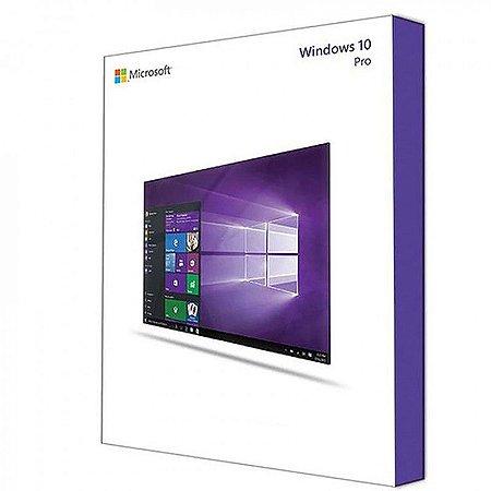 Licença Microsoft Windows 10 Professional Coem MÍDIA DVD