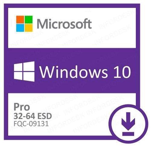 Licença Microsoft Windows 10 Professional ESD dowload FQC-09131