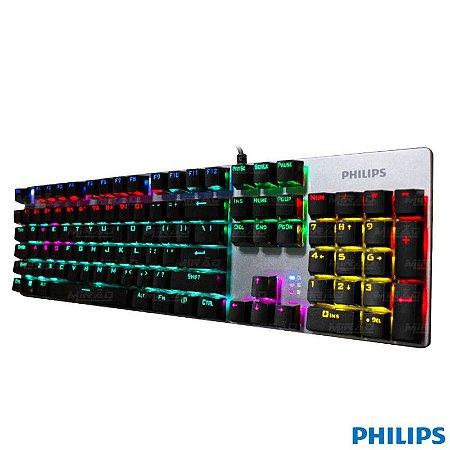Teclado Gamer Philips Mecânico com led Spk-8404