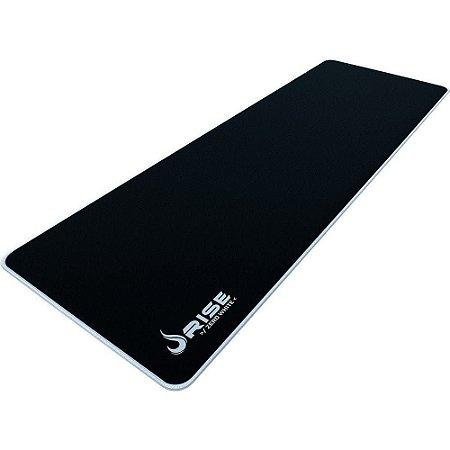 Mouse Pad Gamer Rise Mode Zero Branco Extended Borda Costurada (900x300mm) - RG-MP-06-ZW