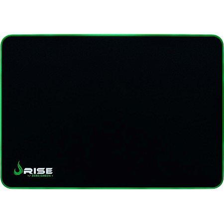 Mouse Pad Gamer Rise Mode Zero Verde Grande Borda Costurada (420x290mm) - RG-MP-05-ZG