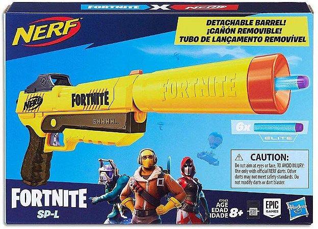 Lançador de Dardos Nerf Fortnite SP-L Elite Dart Blaster E7063 - Hasbro