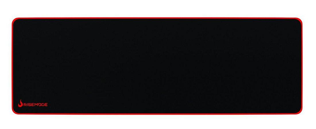 Mouse Pad Gamer Rise Mode Zero Vermelho Extended Borda Costurada (900x300mm) - RG-MP-06-ZR