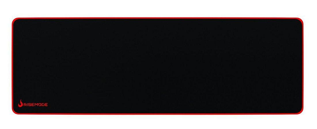 MousePad Gamer Rise Mode Zero Vermelho Extended RG-MP-06-Zr