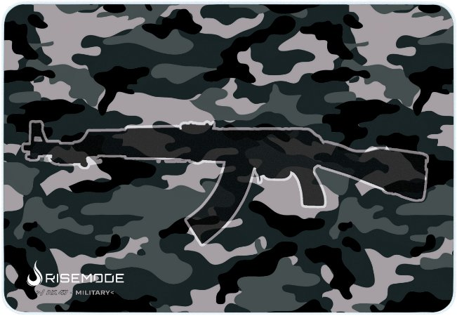 Mouse Pad Gamer Rise Mode Ak47 Military Medio Borda Costurada (28x20)