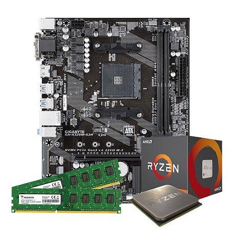 Kit Upgrade Gamer Megatumi Amd Ryzen R3 3200G Placa A320m 2x4gb