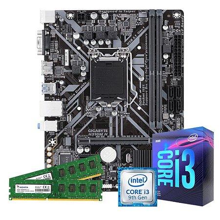 Kit Upgrade Gamer Megatumi Intel i3-9100f Placa H310m 2x4gb