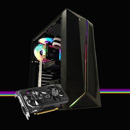 Pc Gamer Megatumi Dark Intel RGB I3 9100F, 8gb Ssd 480gb Gtx 1650