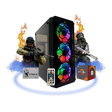 PC GAMER MEGATUMII FIRST PLACE RGB SSD AMD RYZEN 3 3200G 8GB 2x4 SSD 240 GB