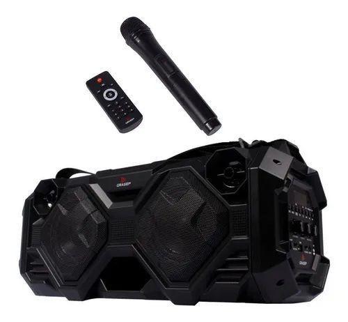Caixa De Som Grasep 40w Rms Usb + Microfone Sem Fio