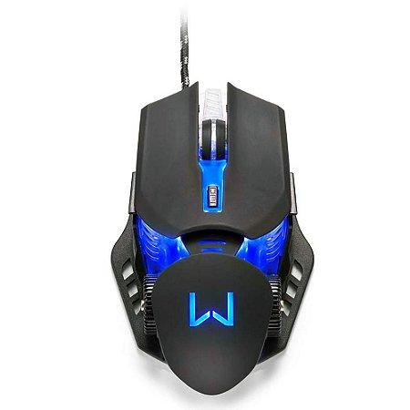 Mouse Gamer Warrior Keon LED 4 Cores 3200 DPI Preto - MO267