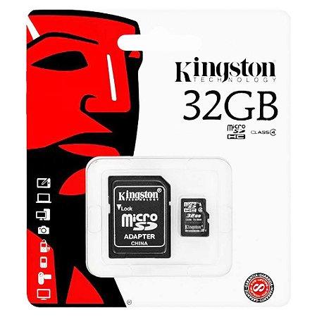Cartão de Memoria Classe 4 Kingston Com Adaptador SDC4/32GB