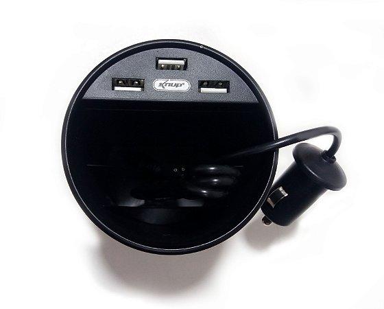 Carregador Veicular 3 Portas USB 3.1 a - SORTIDO - kp-s114