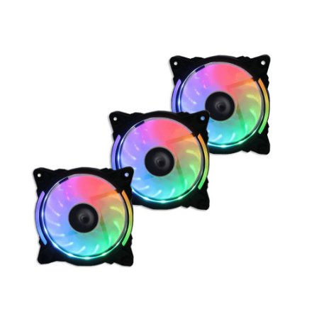 Kit Cooler Fan Wave Rise Mode 3 FANS W1-RGB-S-LED RGB