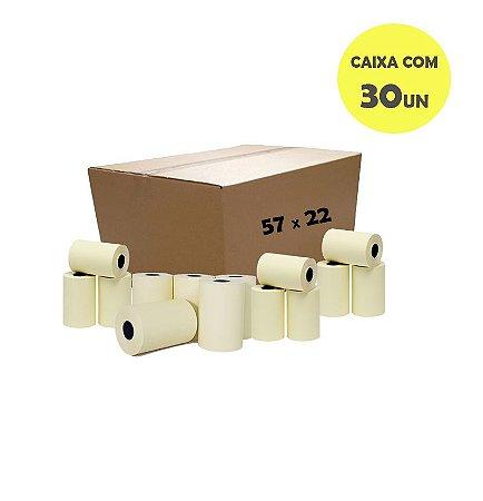 Bobina Térmica 57mm x 22m para Relógios de Ponto (Caixa com 30 unidades)
