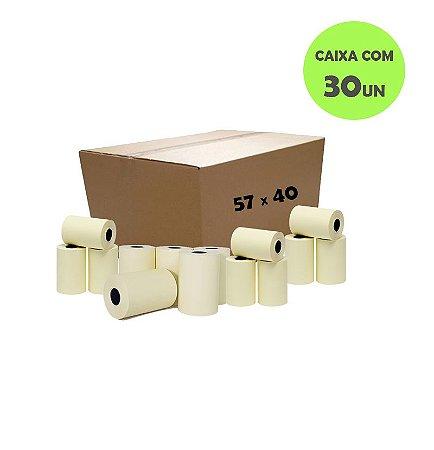 Bobina Térmica 57mm x 40m para Relógios de Ponto (Caixa com 30 unidades)