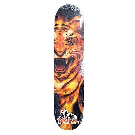 Skate Infantil Tigre Criança 3 a 6 anos Completo 45cm