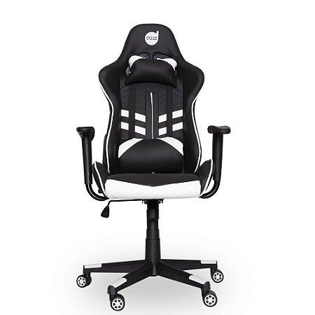Cadeira Gamer Dazz Prime-X Preta Branco Reclinável