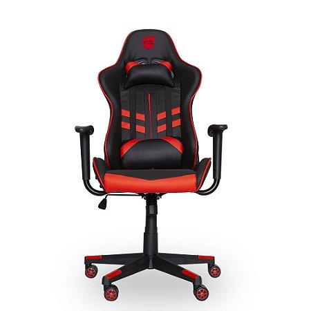 Cadeira Gamer Dazz Prime-X Preta e Vermelho Reclinável