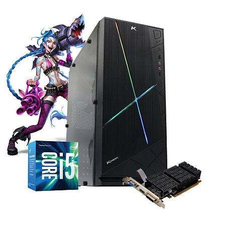 Pc Gamer Intel LOL Jinx i5 8gb SSD 240gb Placa de video 4gb