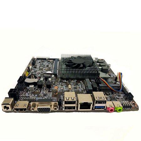 Placa Mãe Mini-itx J1800 Com Processador Hdmi Vga