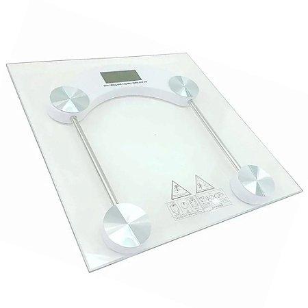 Balança Corporal Digital de Vidro Quadrada - Até 180kg