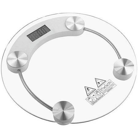 Balança Corporal Digital de Vidro Redonda - Até 180kg
