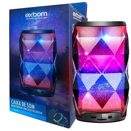 Caixa de Som Bluetooth Galaxia Preto c/ LED