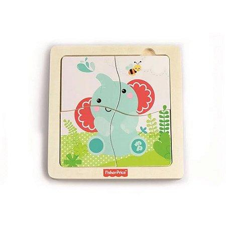 Quebra-Cabeça Baby de Fisher-Price Banho com Elefante - BR989