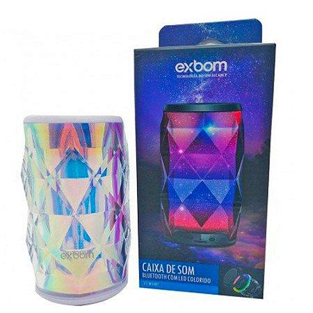 Caixa de Som Bluetooth Galaxia Branco c/ LED