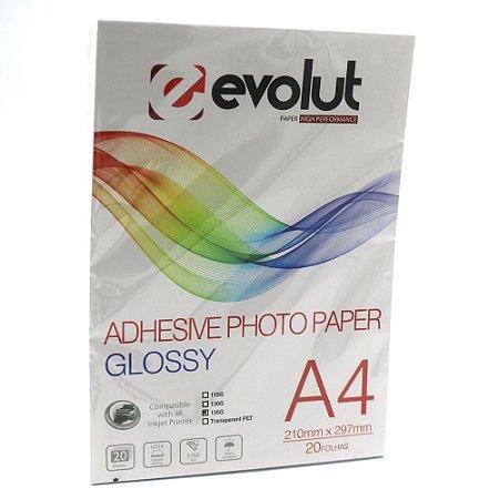 Papel Adesivo Fotográfico A4 135g Pacote c/ 20 folhas