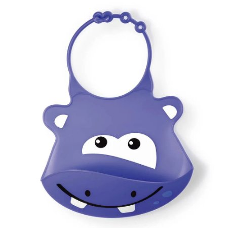 Babador de Silicone - Silybib Hipopotamo Multikids Baby