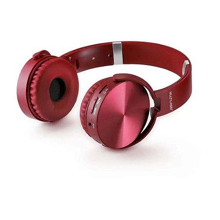 Headphone Premium Bluetooth Sd/Aux/Fm Vermelho - Multilaser