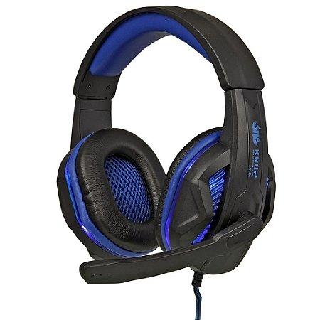 Headset Gamer Com Led - Azul