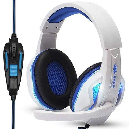 Headset Gamer com Led - Branco