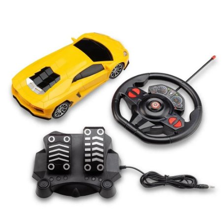 Carrinho Controle Remoto Racing Nitro Amarelo