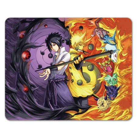 Mousepad Naruto Bijuus/Sasuke Rinnegan - 22x18x0,2cm