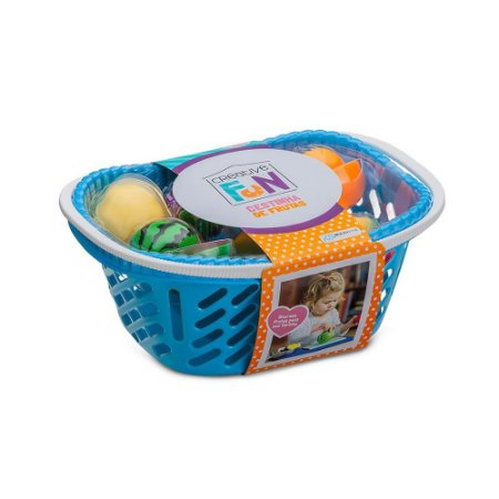 Brinquedo Infantil Cestinha De Frutas c/ Faca e Tabua
