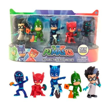 Bonecos Pj Masks Kit com 5 Personagens Original -  Multikids