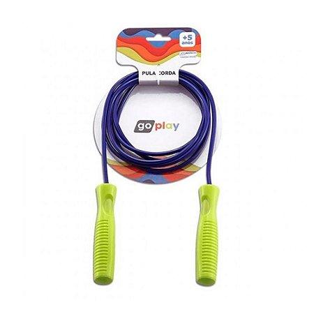 Corda de Pular Infantil 2,2m - Azul e Verde ou Roxo e Rosa