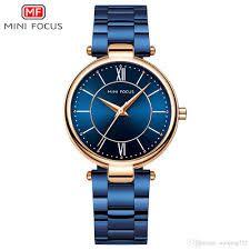 Relógio Feminino Mini Focus Mf0189l Original Azul - Dourado