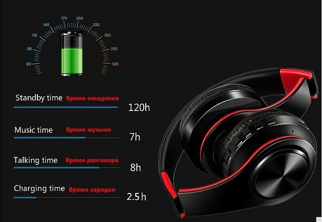 Fones De Ouvido Sem Fio Bluetooth Tourya B7 Com Microfone para PC e Celular
