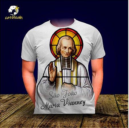 Camiseta São João Maria Vianney - Branca