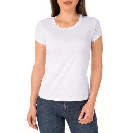 Camiseta branca Poliéster Unissex
