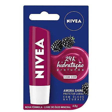 Hidratante Labial Amora Shine 24h - Nivea