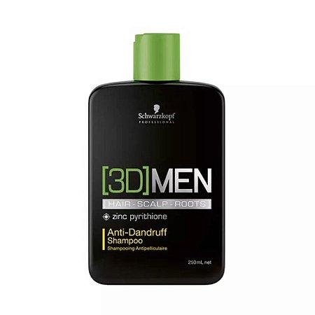 Shampoo 3D Men Anticaspa 250ml - Schwarzkopf
