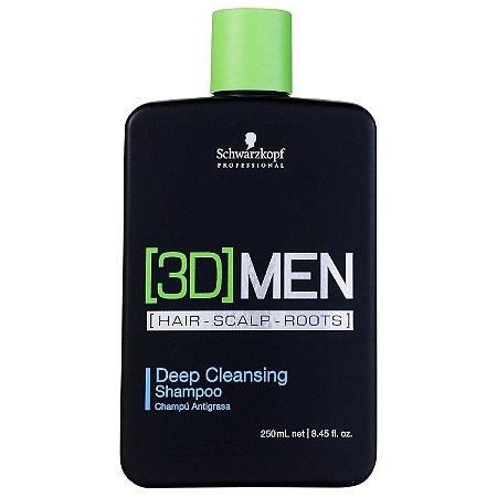 Shampoo 3D Men Antioleosidade 250ml - Schwarzkopf